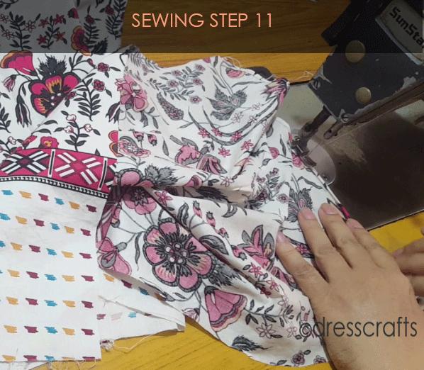 paper bag dress sewing step 11