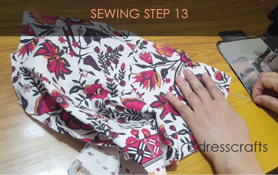 paper bag dress sewing step 13
