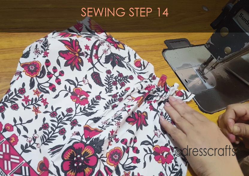 paper bag dress sewing step 14