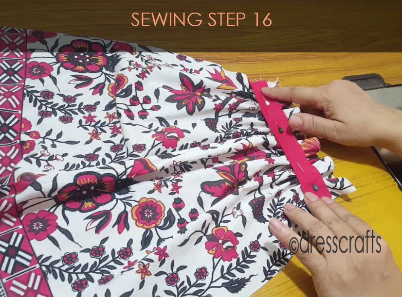 paper bag dress sewing step 16