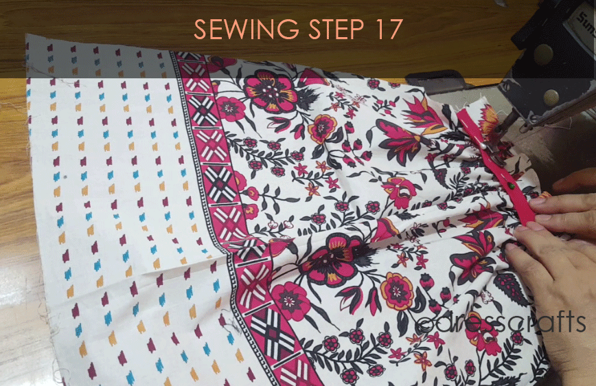 paper bag dress sewing step 17