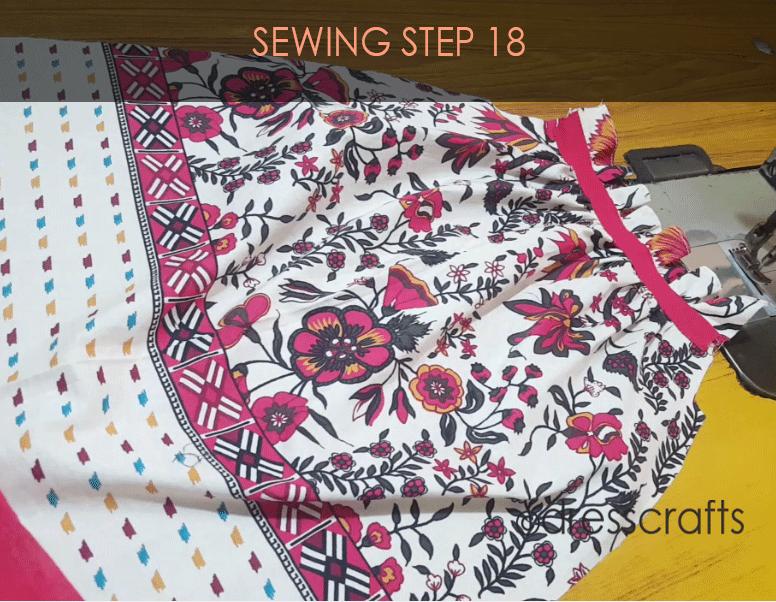 paper bag dress sewing step 18