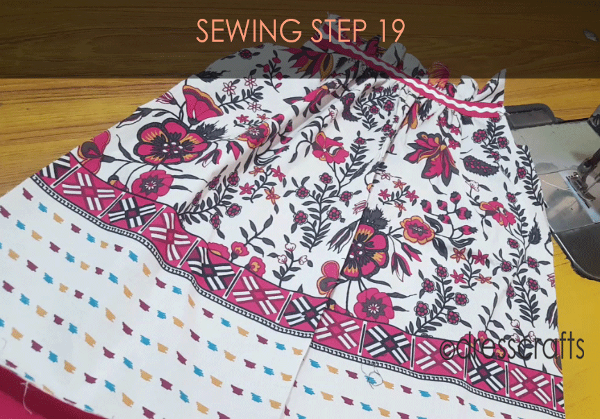 paper bag dress sewing step 19