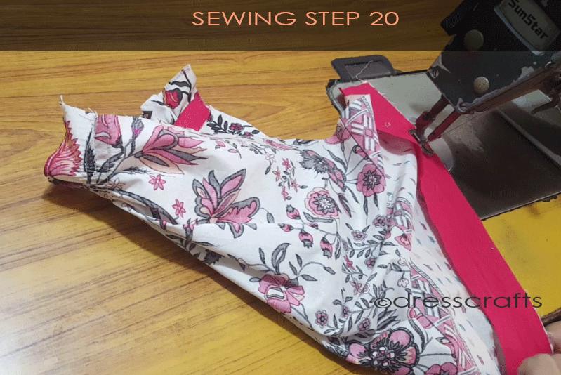 paper bag dress sewing step 20