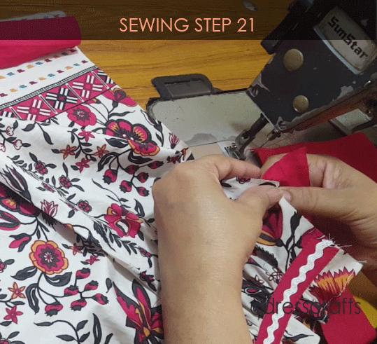 paper bag dress sewing step 21