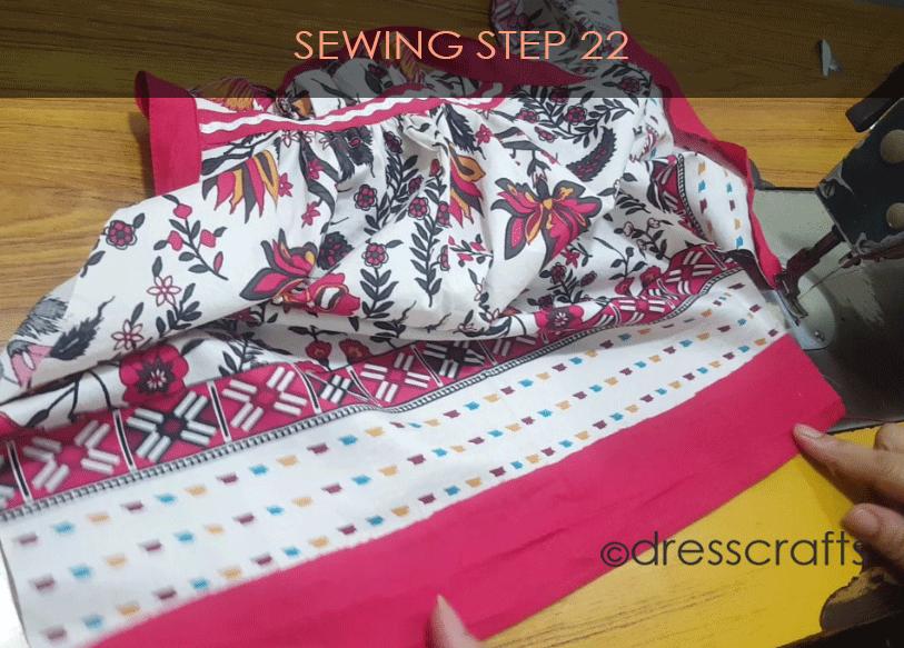 paper bag dress sewing step 22