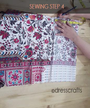 paper bag dress sewing step 4