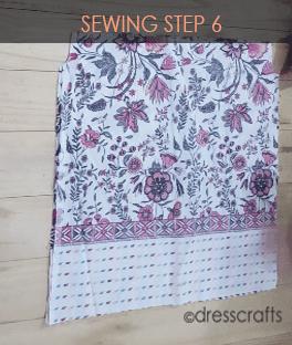 paper bag dress sewing step 6