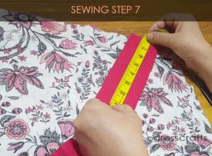 paper bag dress sewing step 7