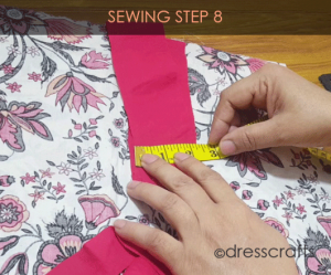 paper bag dress sewing step 8