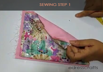 One Shoulder Dress - Sewing Step 1