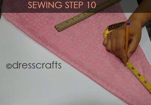 One Shoulder Dress - Sewing Step 10
