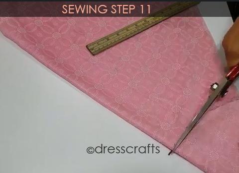 One Shoulder Dress - Sewing Step 11