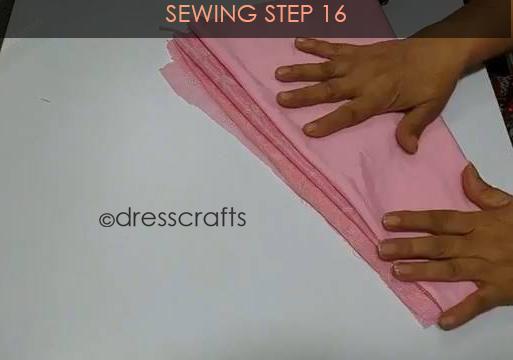 One Shoulder Dress - Sewing Step 16