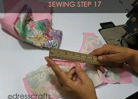 One Shoulder Dress - Sewing Step 17