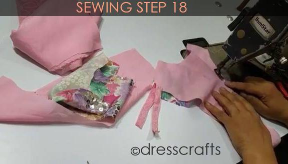 One Shoulder Dress - Sewing Step 18