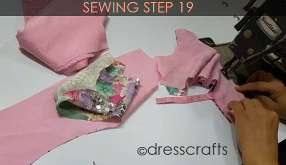 One Shoulder Dress - Sewing Step 19