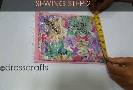 One Shoulder Dress - Sewing Step 2