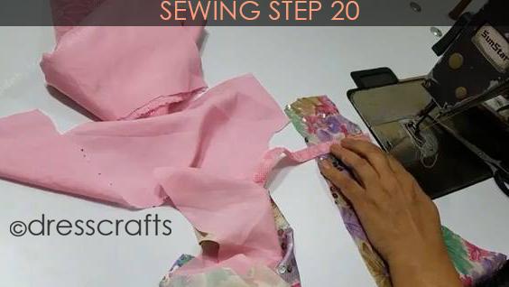 One Shoulder Dress - Sewing Step 20