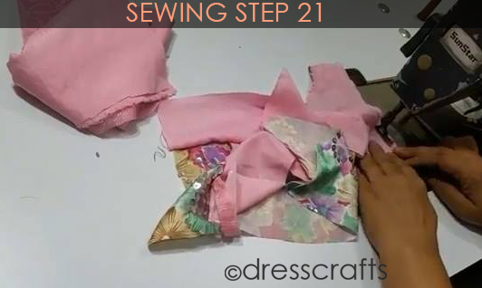 One Shoulder Dress - Sewing Step 21