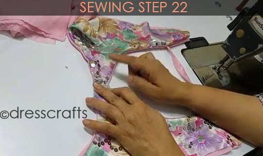 One Shoulder Dress - Sewing Step 22