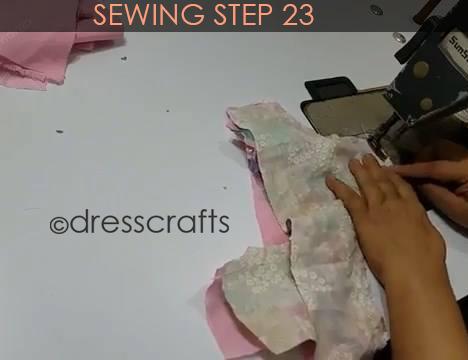 One Shoulder Dress - Sewing Step 23