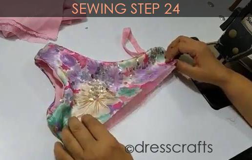 One Shoulder Dress - Sewing Step 24