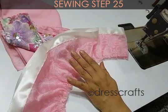 One Shoulder Dress - Sewing Step 25