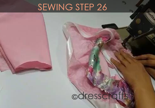 One Shoulder Dress - Sewing Step 26