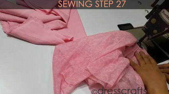 One Shoulder Dress - Sewing Step 27