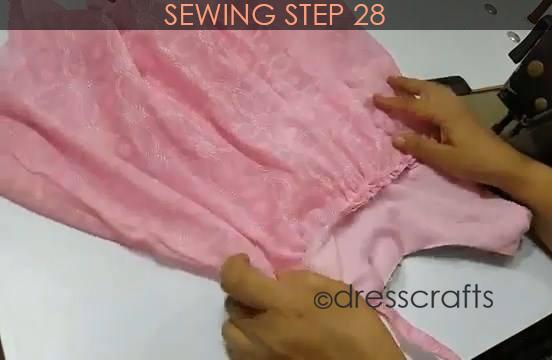 One Shoulder Dress - Sewing Step 28