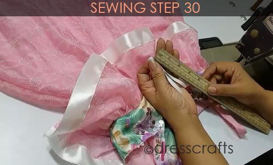 One Shoulder Dress - Sewing Step 30