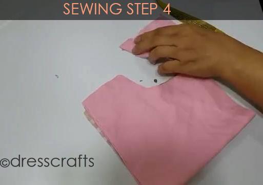 One Shoulder Dress - Sewing Step 4
