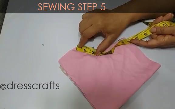 One Shoulder Dress - Sewing Step 5