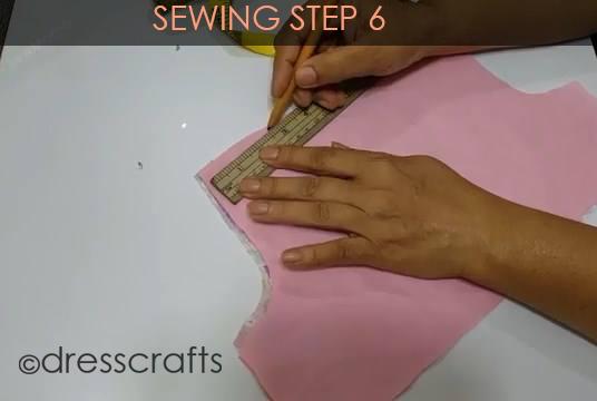One Shoulder Dress - Sewing Step 6