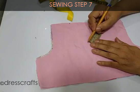One Shoulder Dress - Sewing Step 7