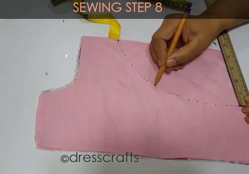 One Shoulder Dress - Sewing Step 8