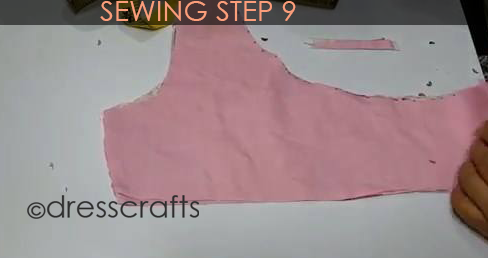 One Shoulder Dress - Sewing Step 9