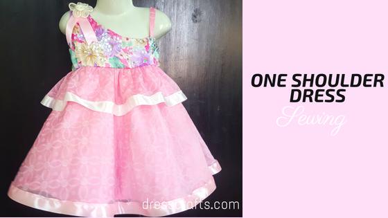 one shoulder dress sewing