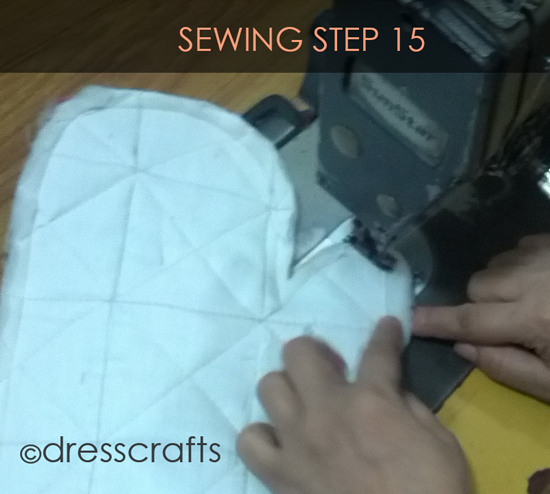 Easy Oven Mitts Sewing Step 15
