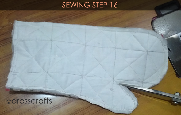 Easy Oven Mitts Sewing Step 16