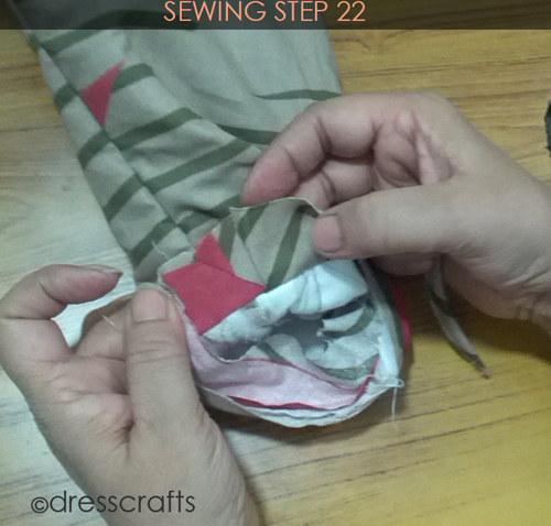 Easy Oven Mitts Sewing Step 22