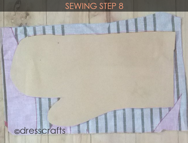 Easy Oven Mitts Sewing Step 8