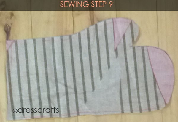 Easy Oven Mitts Sewing Step 9